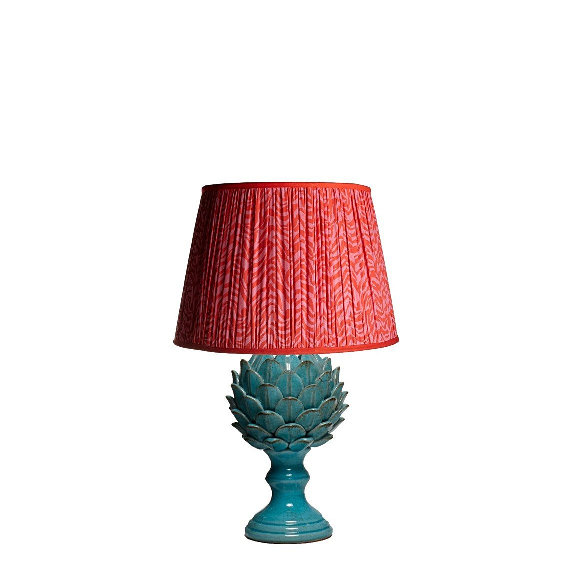 Larger Artur Table Lamp In A Turquoise Crackle Glaze Table Lamp