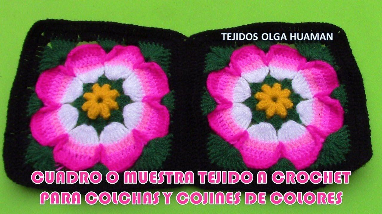 Cuadro O Muestra N 28 Para Colchas Y Cojines De Colores Colchas Tejidas A Crochet Ganchillo De La Abuelita Envolturas De Ganchillo