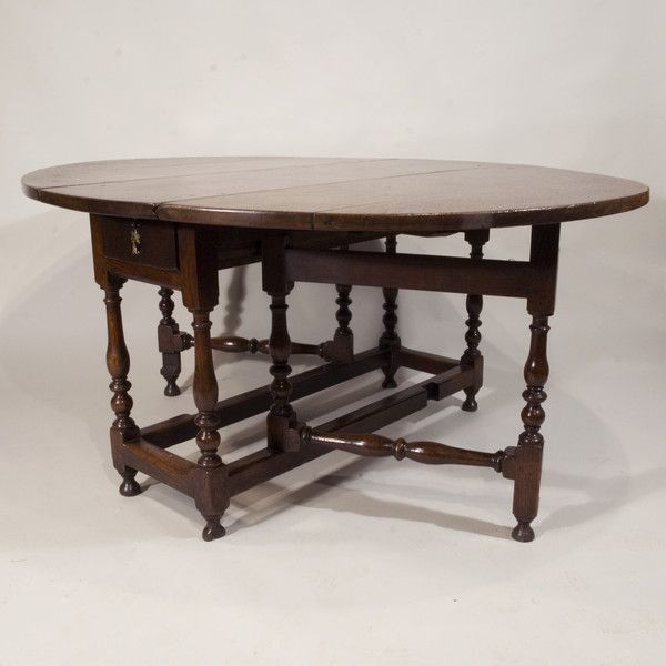 A Late 17th Century William and Mary Period Oak Gateleg Table