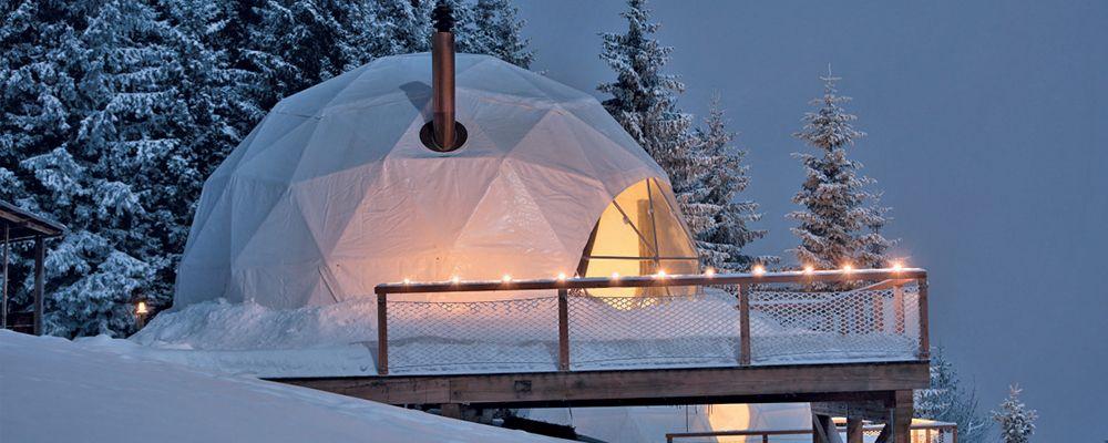 Whitepod Eco Luxury Hotel Valais Suisse Eco Suisse Dormir