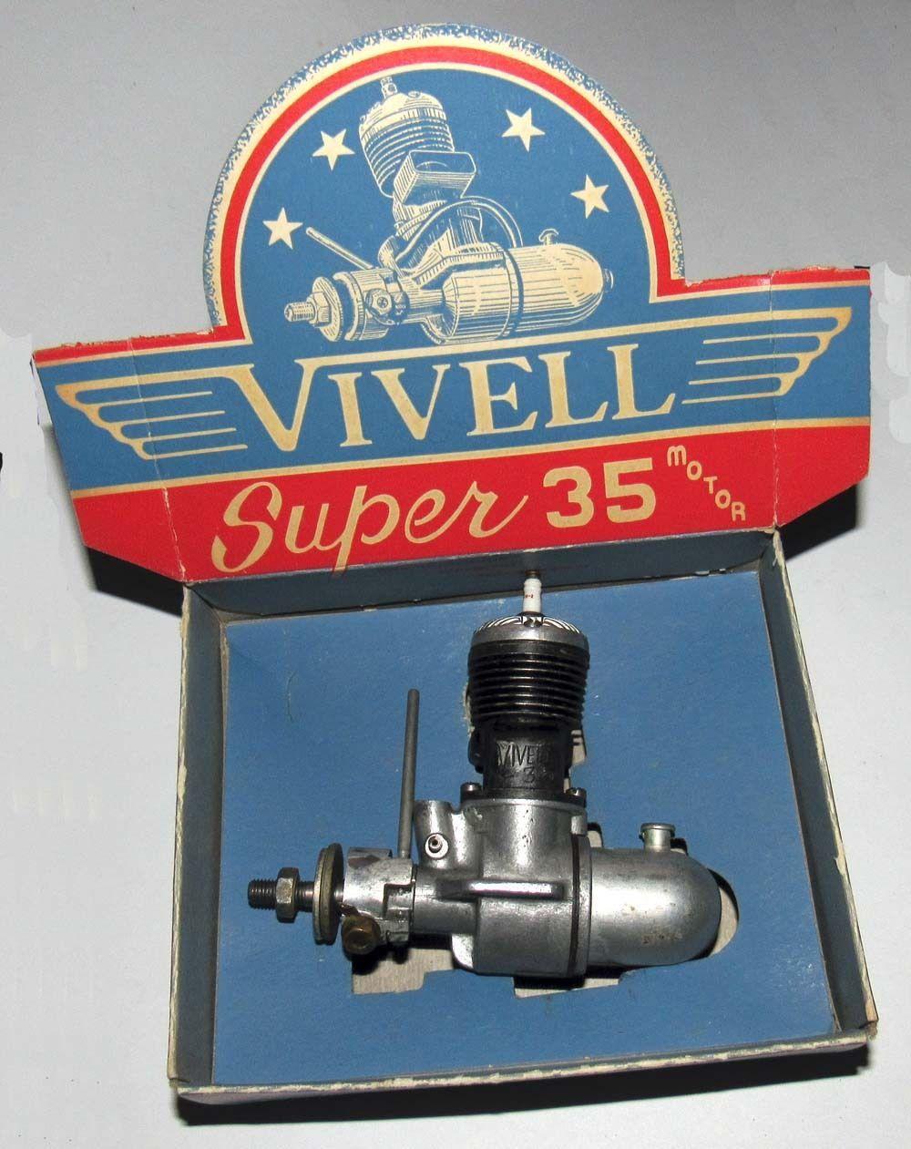 "1946 Vivell ""Super 35"" Model Airplane Engine Model"