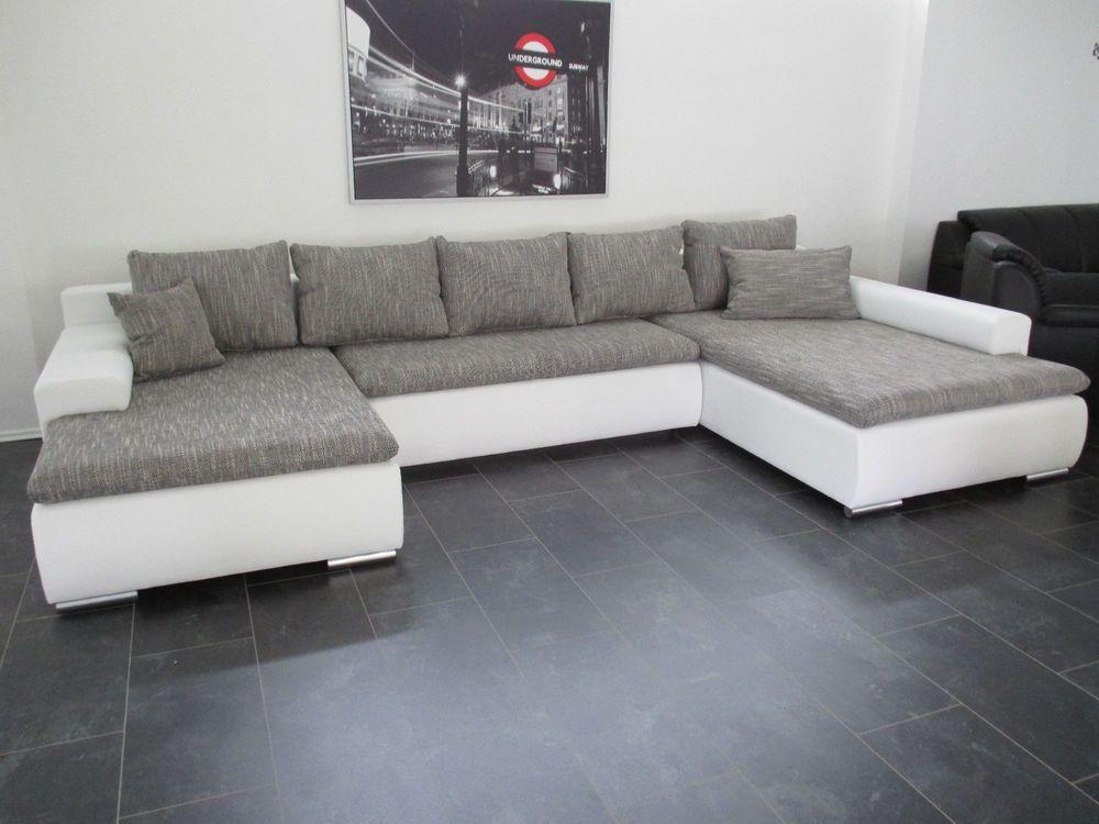 NEU Ab Lager 378cm SCHLAFCOUCH u WOHNLANDSCHAFT Big Sofa COuch SOFA - big sofa oder wohnlandschaft