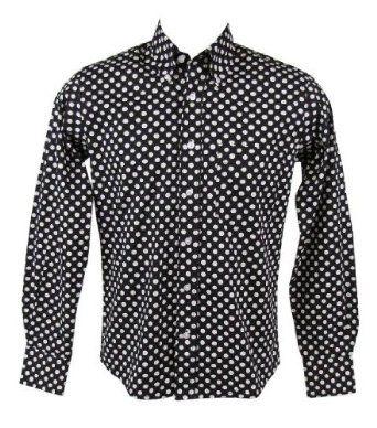 Relco Paisley Shirt Purple Long Sleeve Button Down Collar Mod Vintage Retro Mens
