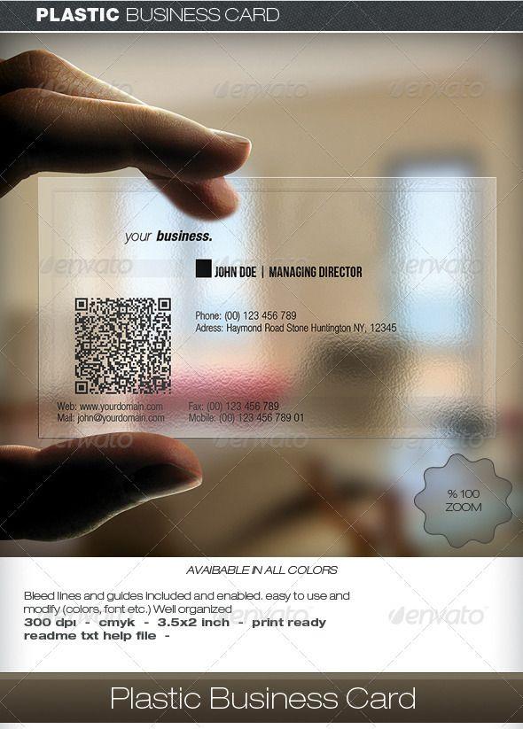 Plastic Business Card www.creativeplasticcards.com.au   Clear ...