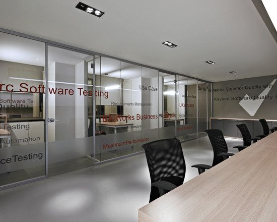 wonderful futuristic office desk   Awesome Office Interior for the Modern Company: Wonderful ...