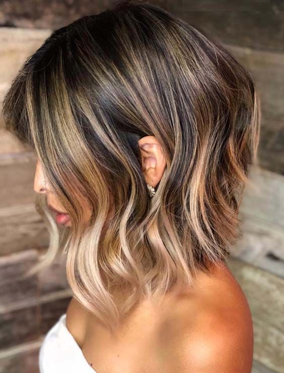 48 Absolutely Obsessed Balayage Lob Haircuts For 2018 Looking For