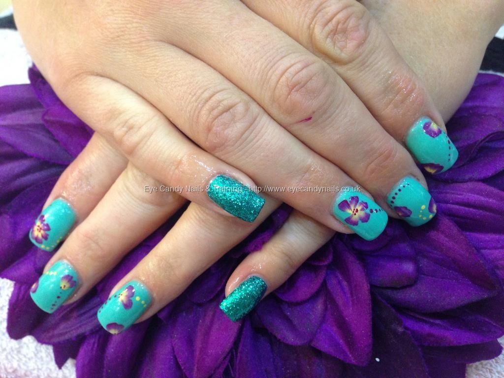 Acrylic+nails+with+jades+a+gem+gelux+gel+polish+1stroke+nail+art ...