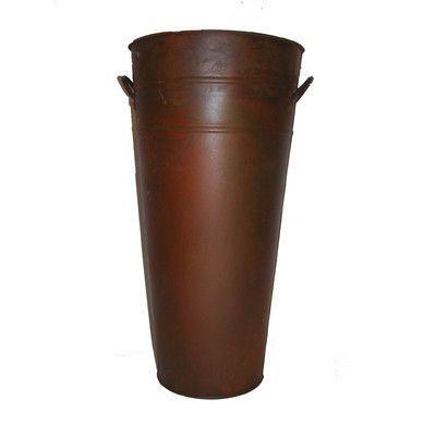 Craft Outlet Round Metal Pot Planter