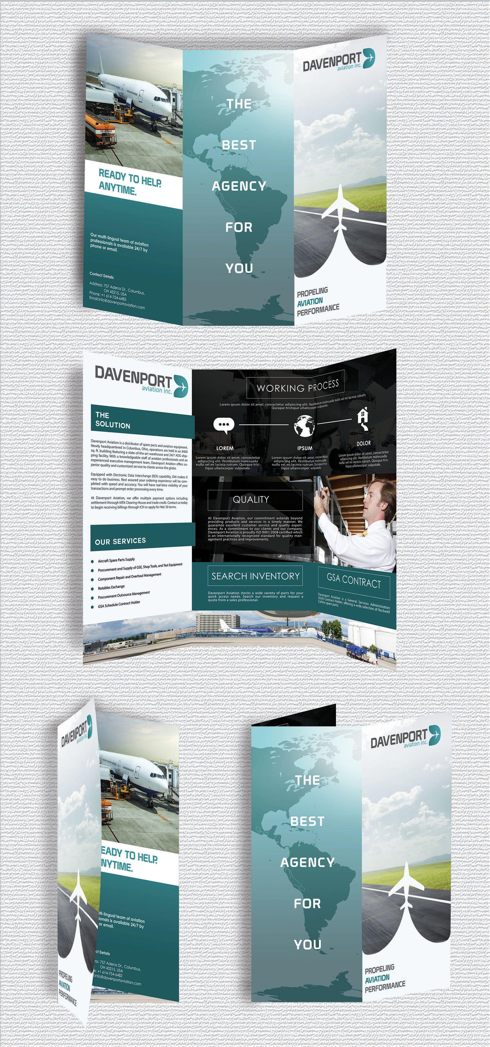Design 6 By Heru Su Global Aviation Supplier Seeking Fresh Design For Marketing Material Graphic Design Business Brochure Brochure Print