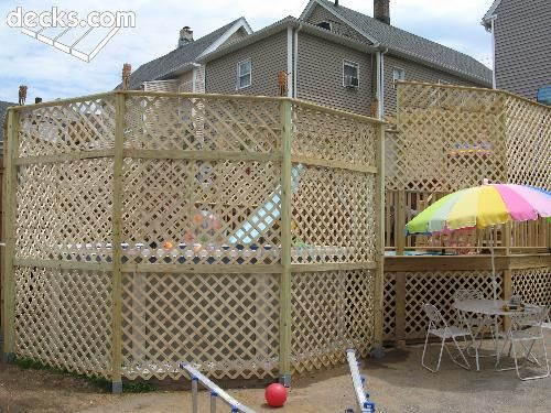 Privacy Screen Wall Deck Picture Gallery Above Ground Pool Decks Backyard Pool Landscaping Pool Landscaping