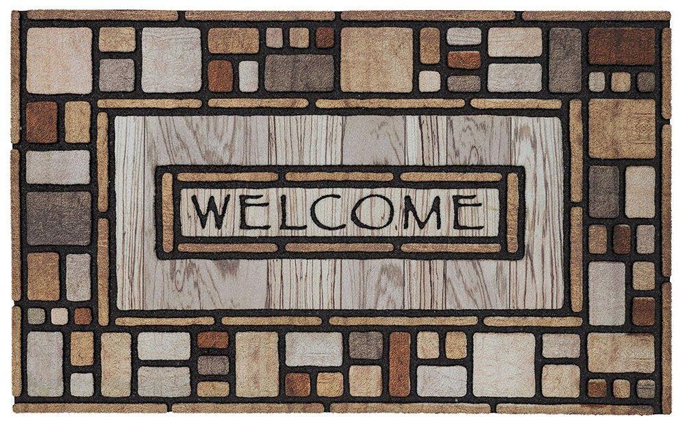 Welcome Mat Home Doormat Entrance Outdoor Decorative Floor Front Door Rubber Rug Mohak Contemporary Rubber Door Mat Door Mat Outdoor Door Mat