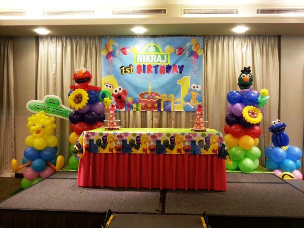 Elmo 1st birthday party ideas birthday party sesamestreet - Decor Sesame Street Decorations With Sesame Street Birthday Party Supplies And For The First Anniversary With Beautiful Decor And Lovely Designing Birthday