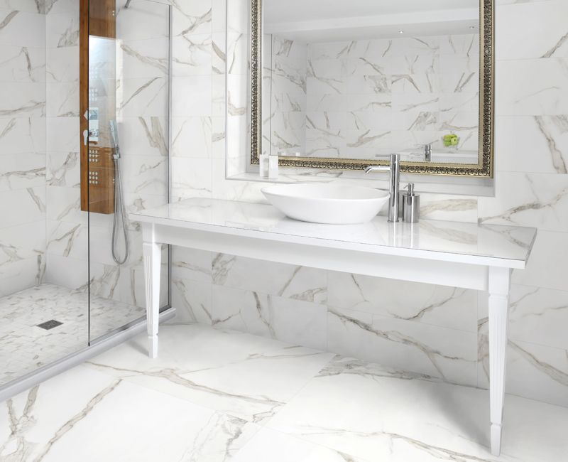Mayfair Hd Porcelain Tile Porcelain Tile Bathroom Gray And White Bathroom Tile Bathroom