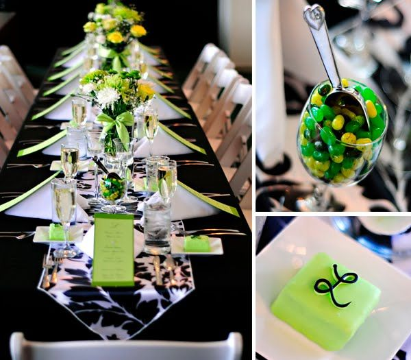 Updating Life While Watching The Oscars Black Party Decorations Green Party Decorations Green Bridal Showers