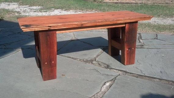 Antique Reclaimed Heart Pine Bench/Console
