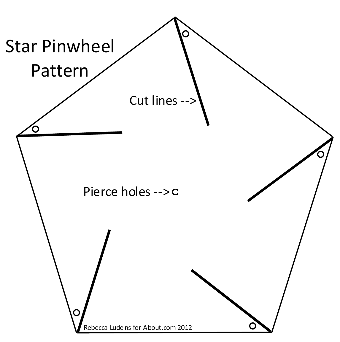 Star Pinwheel Pattern | Art and crafts | Pinterest