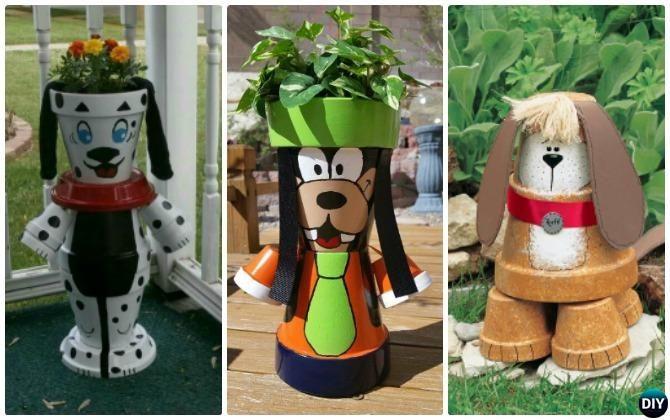 10 DIY Terra Cotta Clay Pot Garden Craft Projects