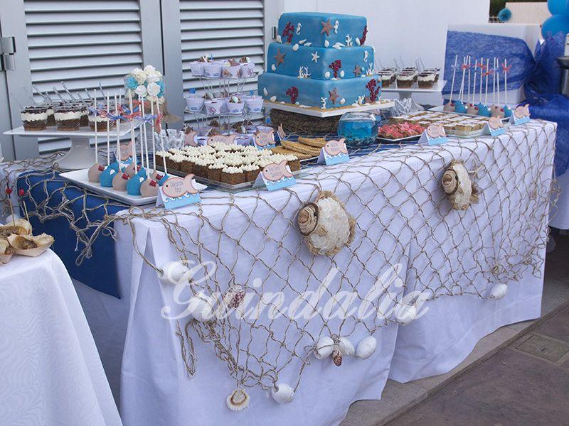 Mesa dulce estilo marinero para la inauguraci n de una for Mesa dulce marinera