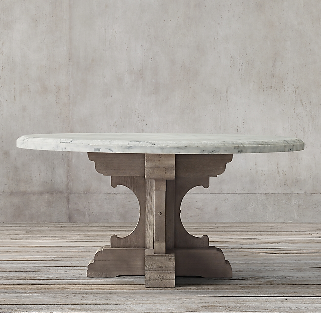 17th C French Bastide Oak Marble Round Dining Table Dining Table Marble Round Marble Dining Table Round Dining Table Decor