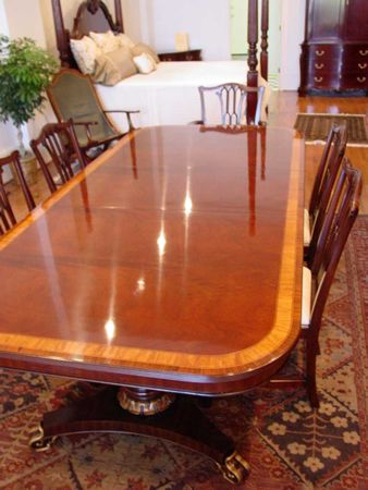 Rectangular Double Pedestal Table By