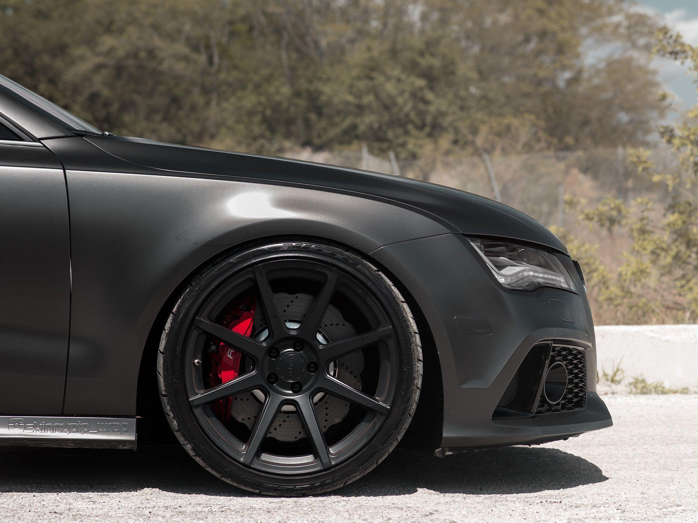 Matt Black Audi Rs7 On Velgen Wheels Black Audi Audi