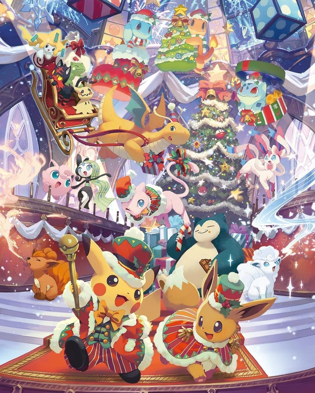 Pokemon Pokemon Pokemonart Thepokemoncompany Christmas Pokemon Cute Pokemon Wallpaper Pokemon