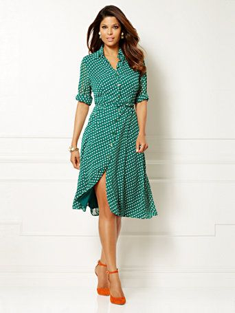 a3ae91ff59653 Shop Eva Mendes Collection - Pia Shirtdress - Polka Dot . Find your perfect  size online at the best price at New York & Company.