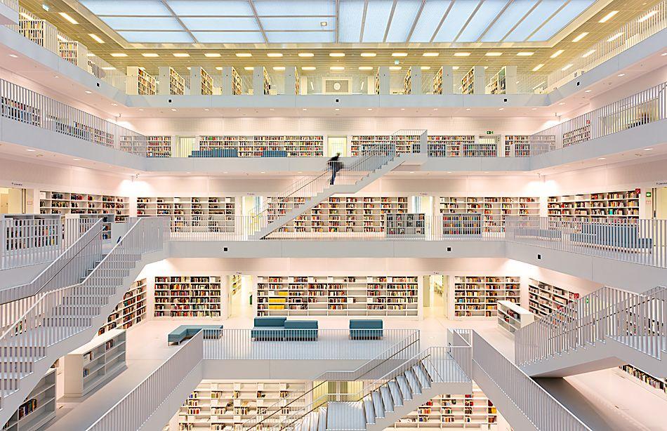 Die neue stadtbibliothek stuttgart von dieter j lehmann for Neue architektur stuttgart
