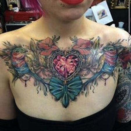 Chest Tattoos For Women Egodesigns Chest Tattoos For Women Chest Piece Tattoos Cool Chest Tattoos