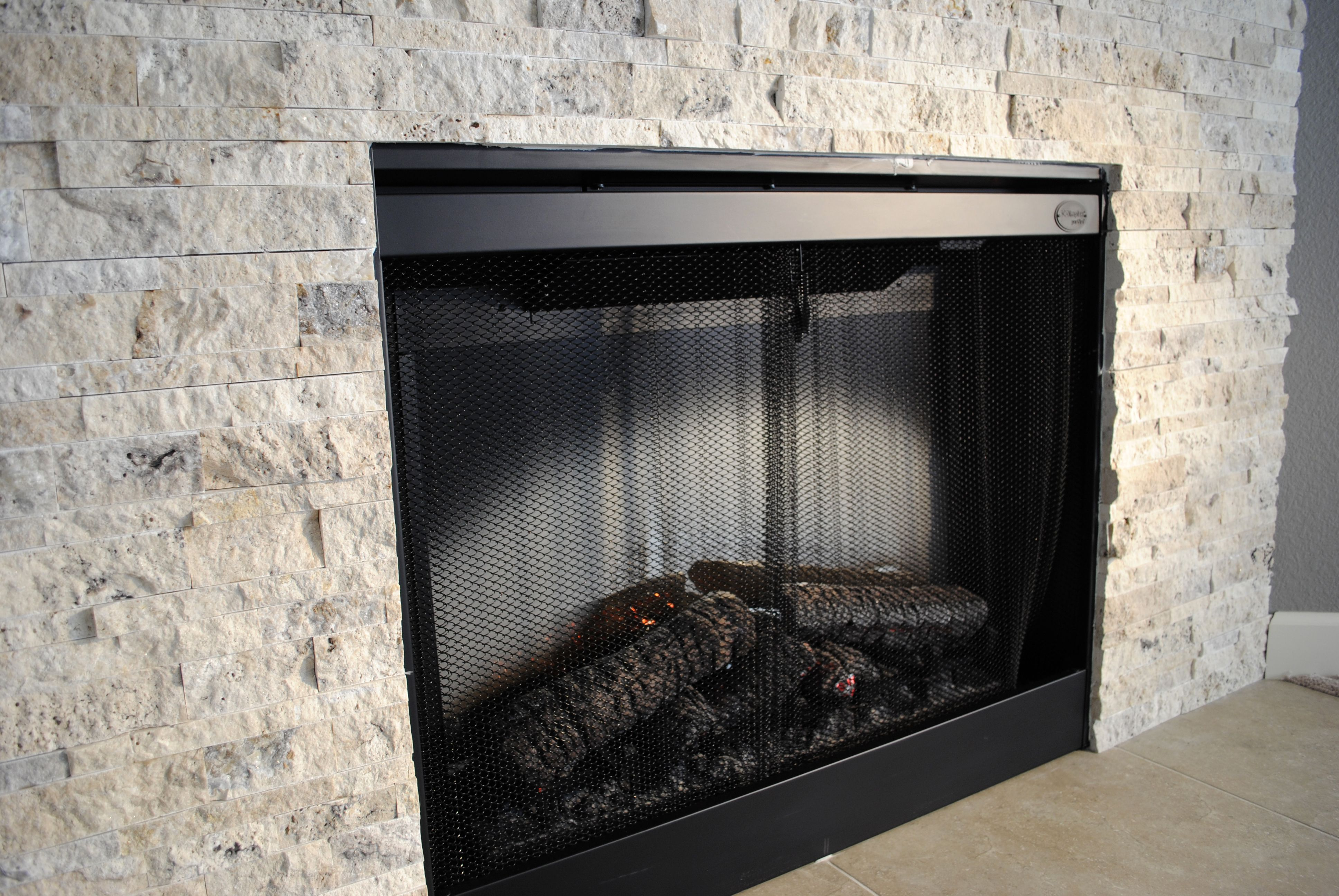 Picasso Stacked Stone Fireplace Installed By Dugans Wwwduganpaintscom