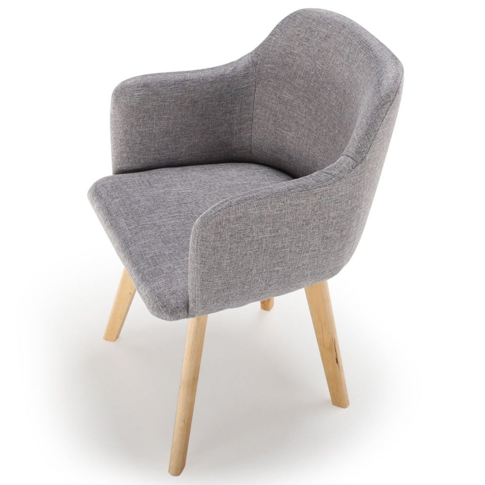 la chaise scandinave tissu gris candy