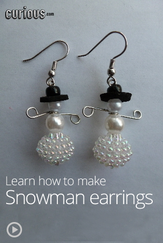 How To Make Beaded Snowman Earrings