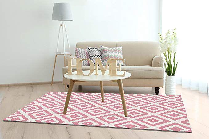 Keymura Moderner Teppich mit schönem Druck/Design Raute Pink Größe - das moderne kinderzimmer