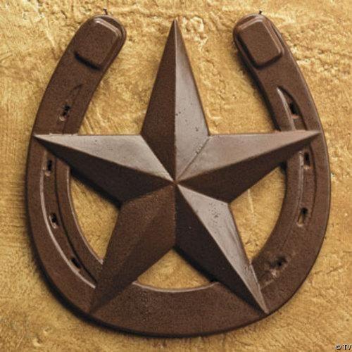 Equestrian Western Texas Star /& Horse Shoe Rustic Towel Bar Wall Mounted