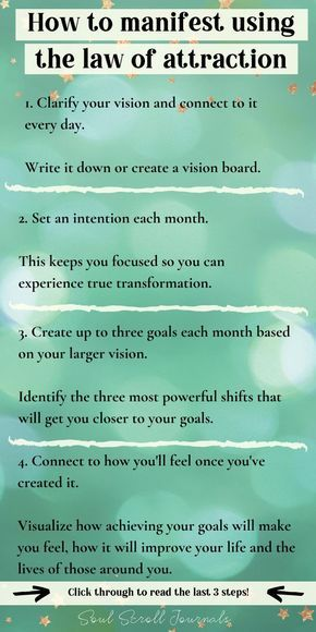 How to manifest what you want using the law of attraction in 7 simple steps!