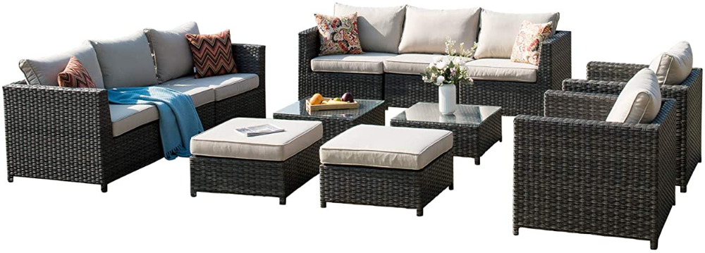 outdoor patio furniture 12 pcs