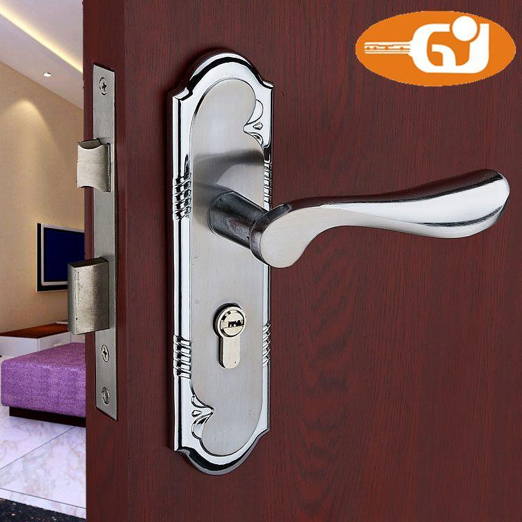 New Aluminum Door Lock Home Interior Living Room Bedroom Bathroom ...