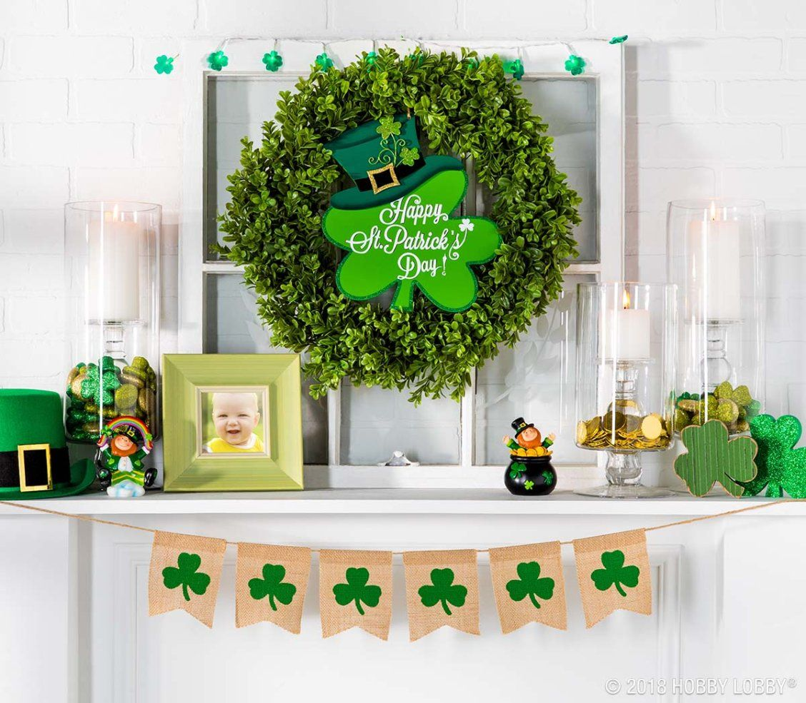 Add A Little Lucky Charm To Your Decor For St Patrick S Day St Patrick S Day Decorations St Patrick S Day Crafts St Patrick S Day Photos