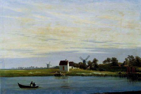 Caspar David Friedrich Windmuhlen Am Fluss Mit Bildern