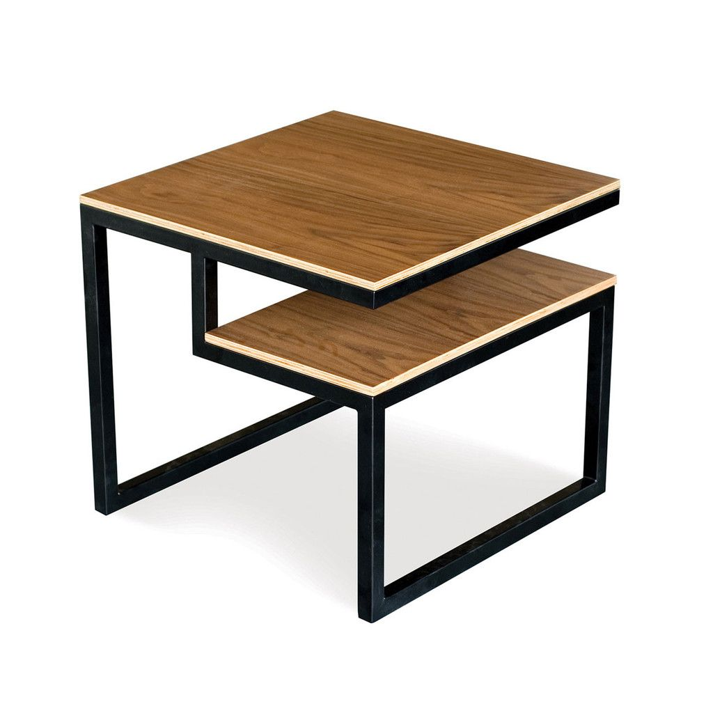 ossington end table by gus modern a simple end table with a storage component for attractive display of books and magazines
