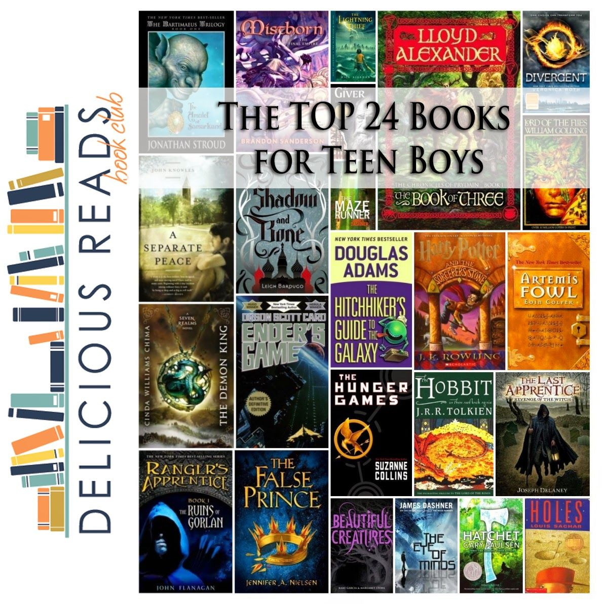 Top 24 Books For Teen Boys Great List By Robin Via Delicious Reads