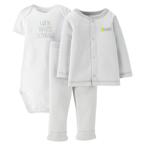 Just One You™Made by Carter's® Newborn Boys' Look Whos Lovable 3 Piece Set