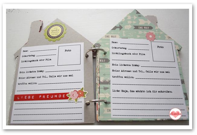 freundebuch selber basteln geschenkt pinterest freunde buch b cher und freundebuch. Black Bedroom Furniture Sets. Home Design Ideas
