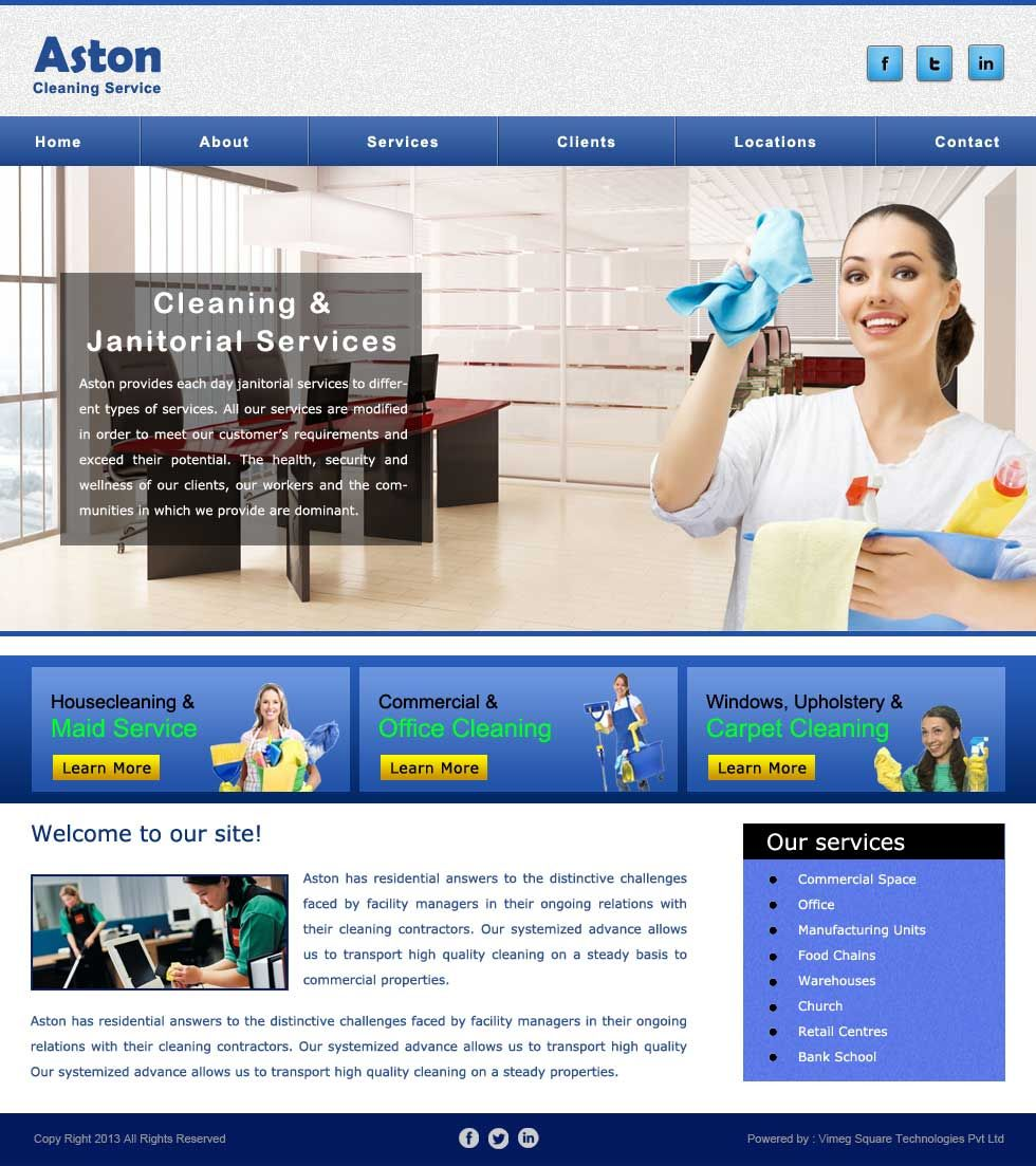 Website Template 35 Designing Development Custom Web Janitor Cleaning Service Design