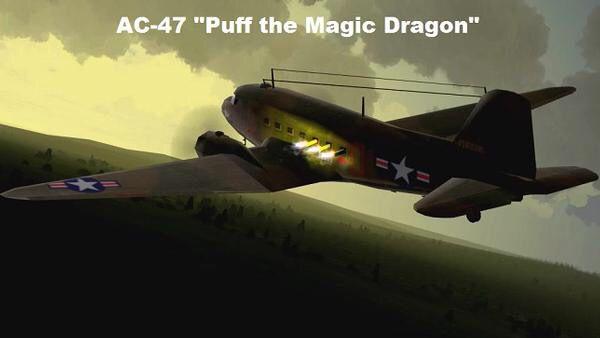 AC47 Puff the Magic Dragon Gun ship