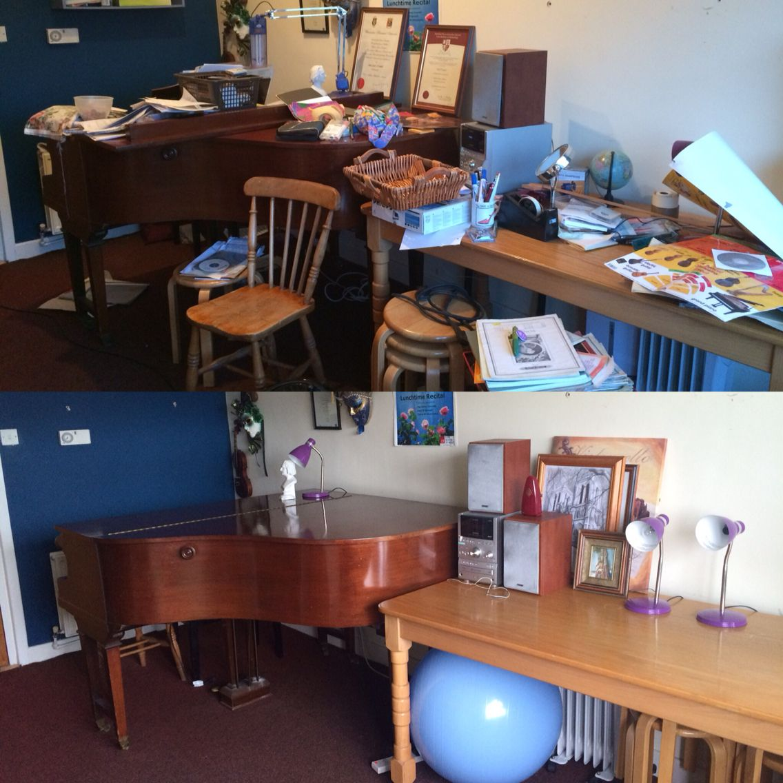 Music Room Before And After With Marie Kondo S KonMari Method Tidy