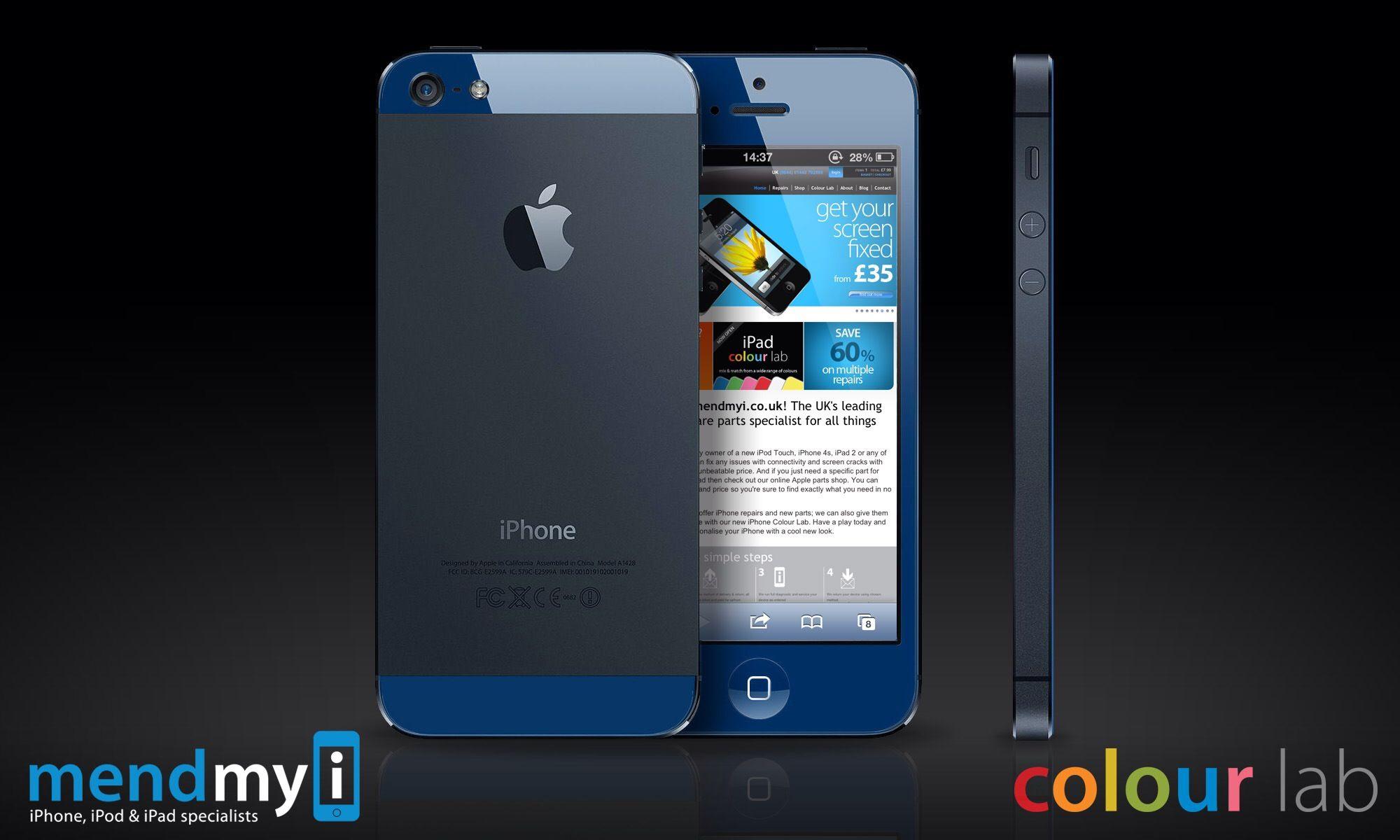 Www etradesupply com media uploaded iphone 5c vs iphone 5 screen jpg - Iphone 5 Colourlab Dark Blue And Black