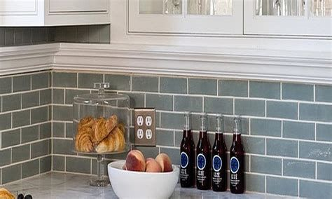 kitchen backsplash ideas on a budget, Blue Gray Subway Kitchen