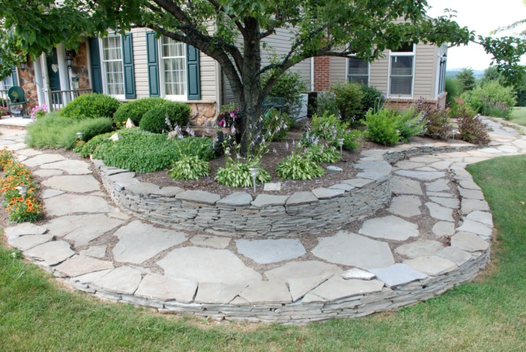 Curved flagstone border walk | Landscape design software ...