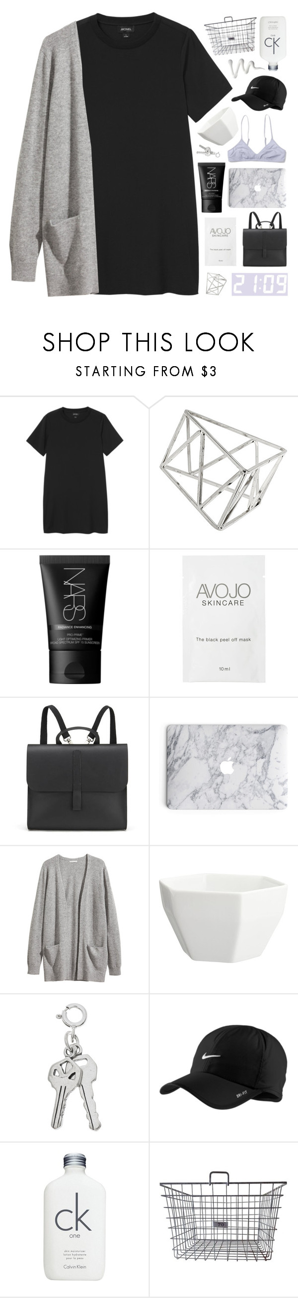 """""""ALL YOU SEE'S THE SKY"""" by celhestial ❤ liked on Polyvore featuring Monki, Topshop, NARS Cosmetics, Danielle Foster, H&M, CB2, NIKE and Calvin Klein"""
